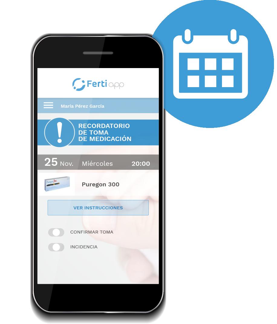 Medicaciones y tratamientosde fecundación des de la app de Fertiapp